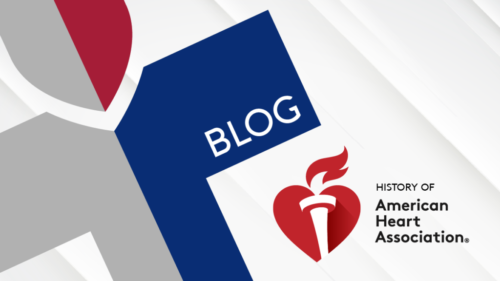the history of the american heart association title graphic