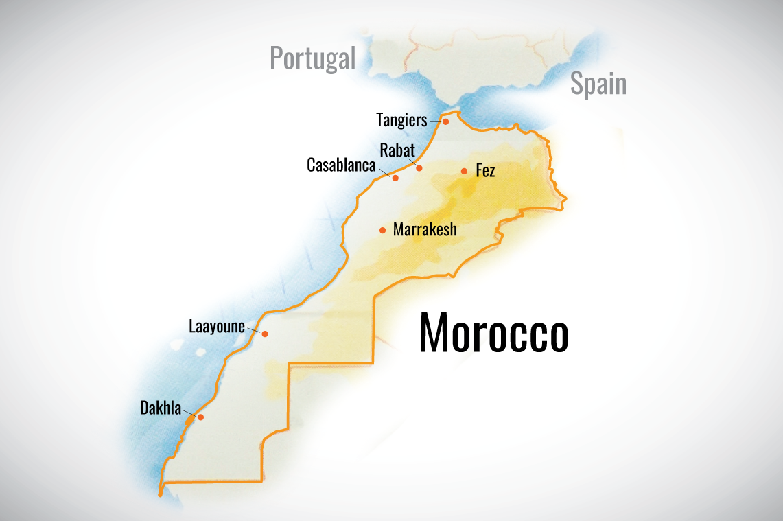 Map Of Morocco And Other Countries